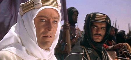 Peter O' Toole and Omar Shariff in Lawrence Of Arabia (1962)