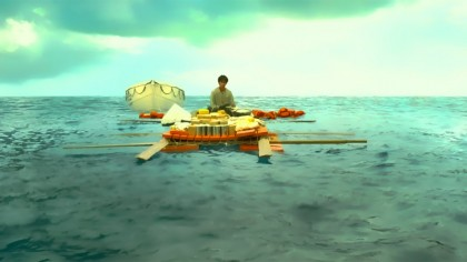 Suraj Sharma as Pi, by himself out at sea in Life of Pi (2012)