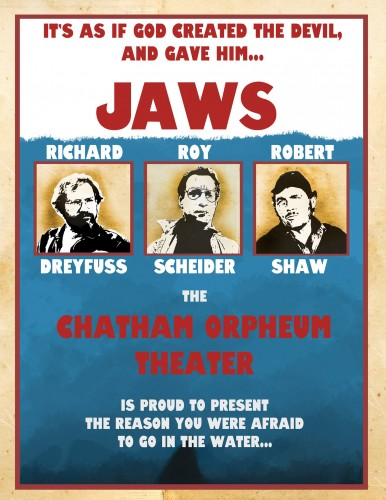 A Jaws poster designed specifically for the Orpheum