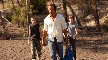 Matthew McConaughey, Tye Sheridan, and Jacob Lofland in Mud (2013)