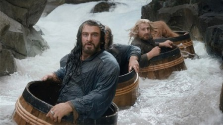An astonishing river chase in The Hobbit: The Desolation of Smaug (2013)