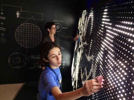 Playing with light, water, and sponges at Digiplayspace