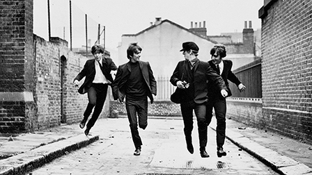 The Beatles goof around in A Hard Day's Night (1964)