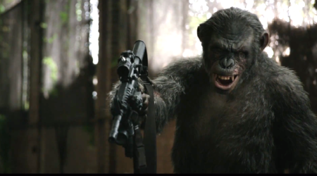 Koba (Toby Kebbell) is ready to kill some humans in Dawn of the Planet of the Apes (2014)